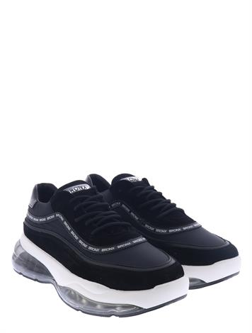 Bronx Bubbly Suede Soft Nappa Black
