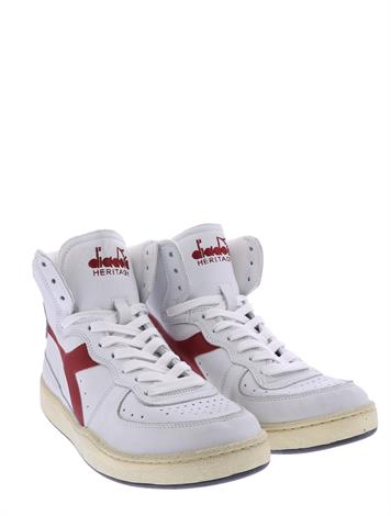 Diadora Mi Basket Used White Garnet