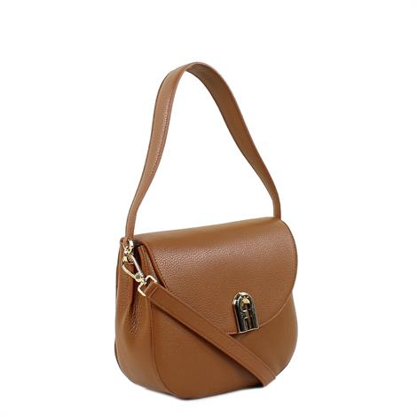 Furla Sleek S Crossbody Cognac