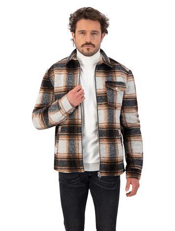 Goosecraft GC Sin City Wool Overshirt Check Brown Black