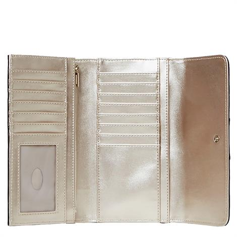 Guess Logo City Pocket Trifold Brown