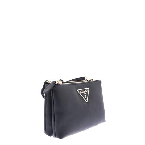 Guess Michy Double Zip Crossbody Black