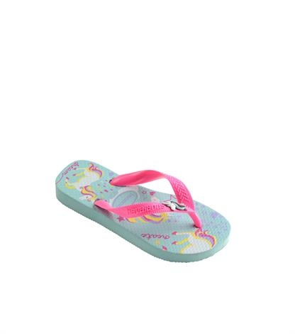 Havaianas Kids Fantasy Ice Blue Shock Pink