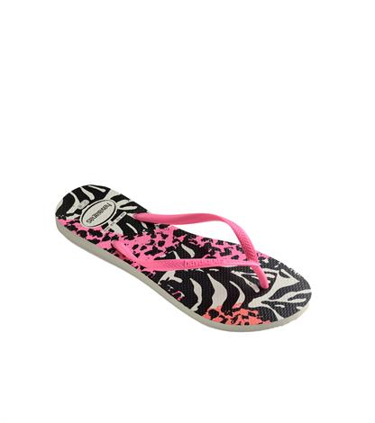 Havaianas Kids Slim Animal White Pink