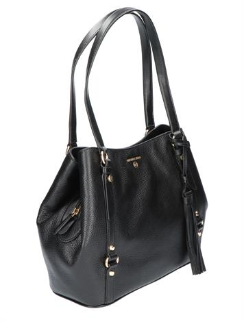 Michael Kors Carrie Large Shoulder Bag Black