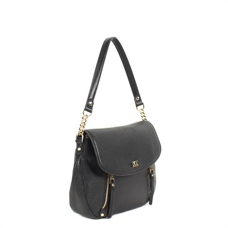 Michael Kors Evie Medium Leather Shoulder Bag Black