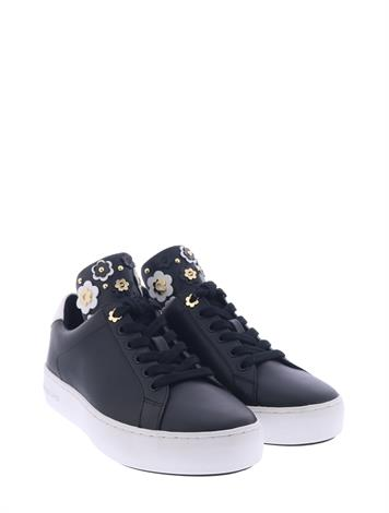 Michael Kors Mindy Lace Up Black Optic White