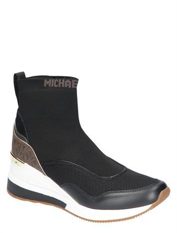 Michael Kors Swift Stretch Knit Logo Sock Black Brown