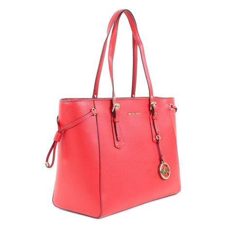 Michael Kors Voyager Medium Leather Tote Bright Red