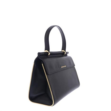 Michael Kors Yasmine Medium Satchel Black Gold