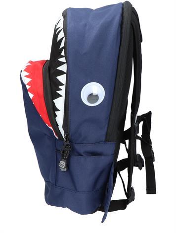 Pick en Pack Shark Shape Backpack M Navy