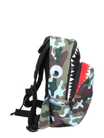 Pick en Pack Shark Shape Backpack S Camo Light Blue