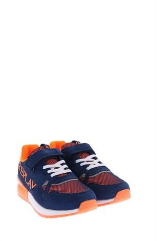 Replay Cardiff Navy Fluo Orang