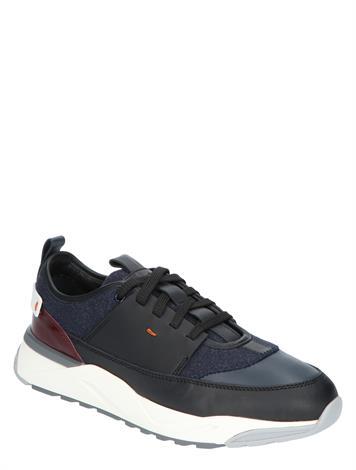 Santoni 21380 Black Blue