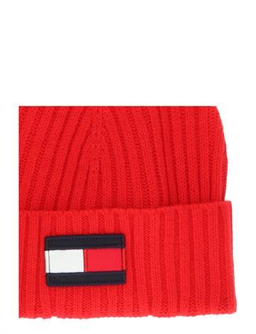 Tommy Hilfiger Big Flag Beanie AU0AU01093XNL Deep Crimson