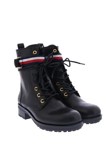 Tommy Hilfiger Corp. Ribbon Biker  Black