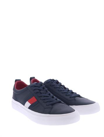 Tommy Hilfiger Flag Detail Leather Midnight