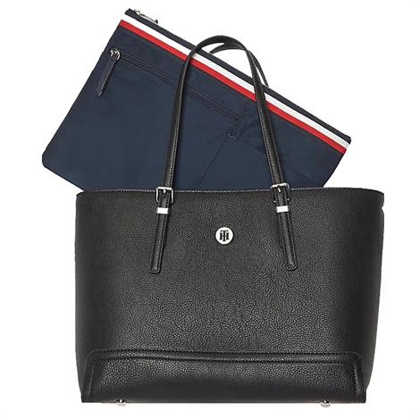 Tommy Hilfiger Honey Med Tote Black