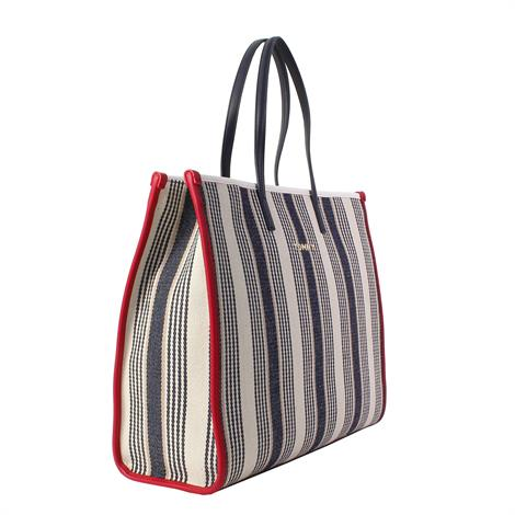 Tommy Hilfiger Tommy Beach Bag Stripe Black White