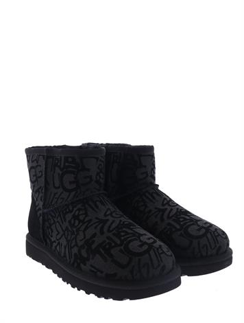 Ugg Classic Mini Sparkle Graffiti Black
