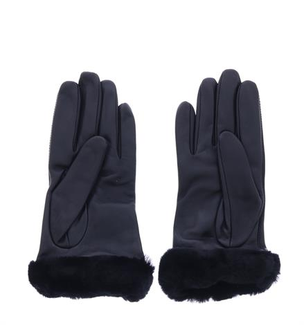 Ugg Leather Logo Glove  Black